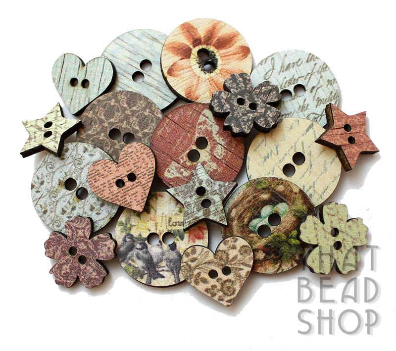 Inventory: Buttons › Wood Button Packs - Fairy Belle Wood