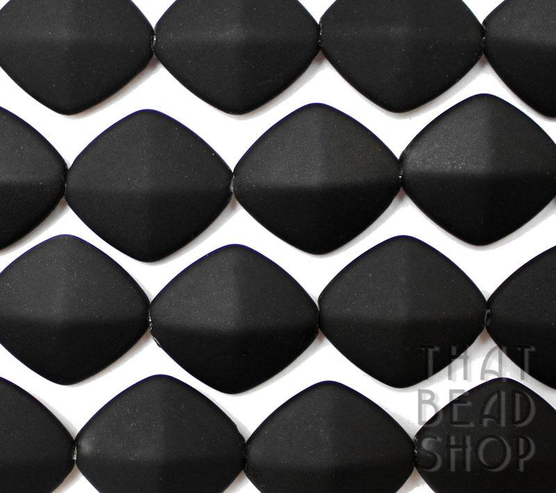 Black Rubber Coated Flat Diamond