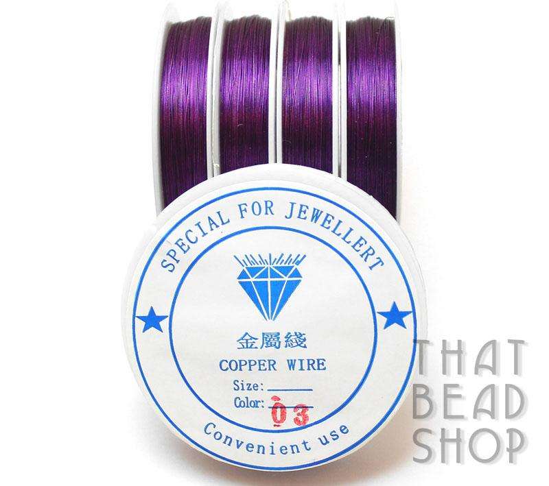 Royal Purple Colour Coated Craft Wire 0.3mm