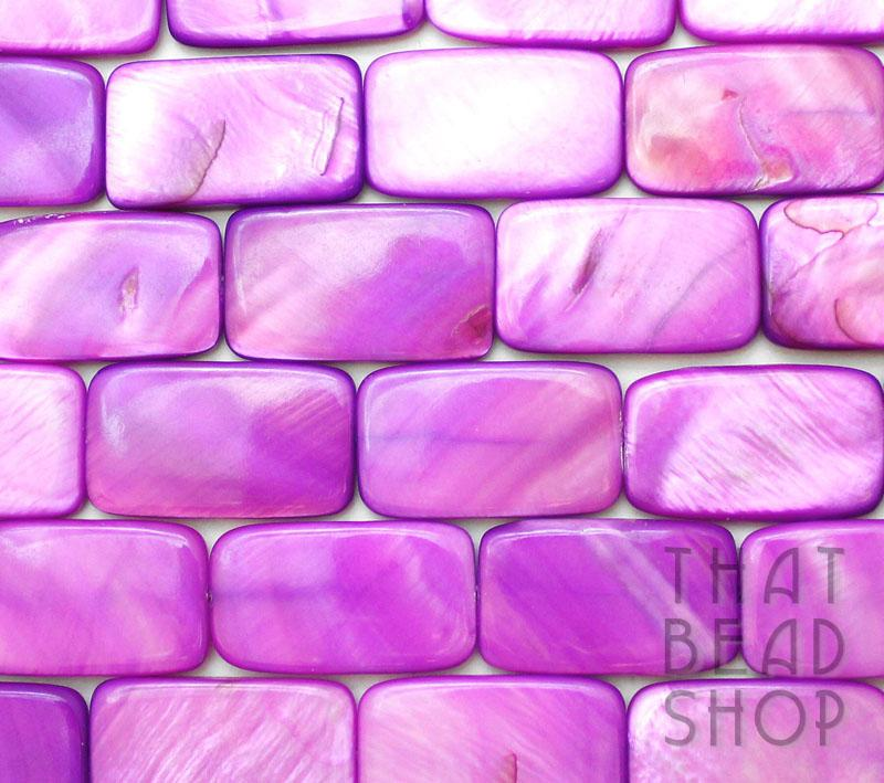 Bright Purple Large Shell Rectangle