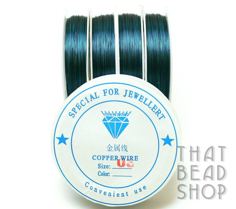 Teal Colour Coated Craft Wire 0.3mm