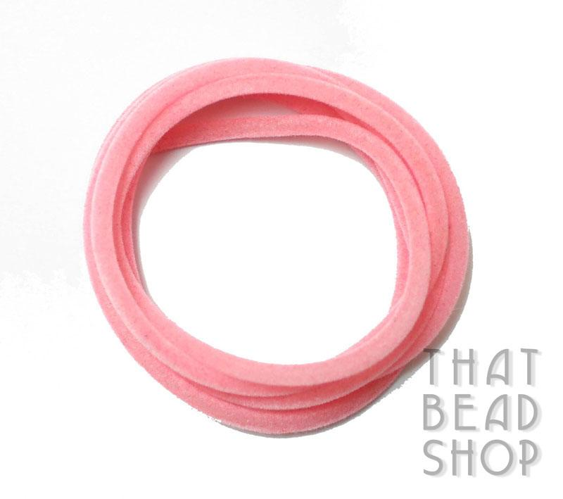 Candy Pink 3mm Velvet Rubber Tubing