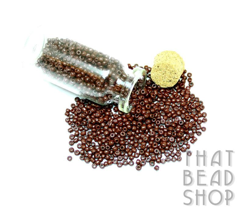Opaque Warm Brown Size 11-0 Seed Beads