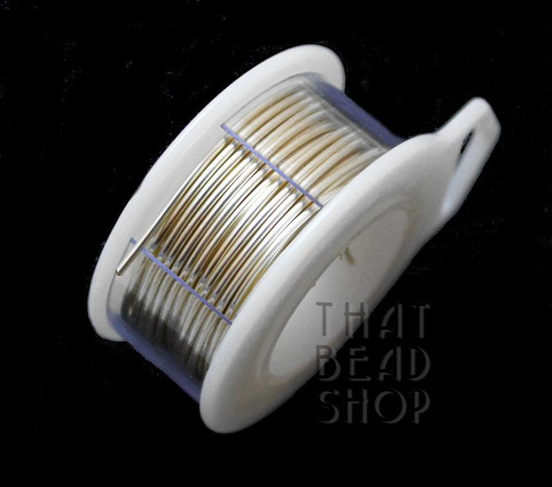 18 Gauge Silver Non Tarnish Round Premium Craft Wire