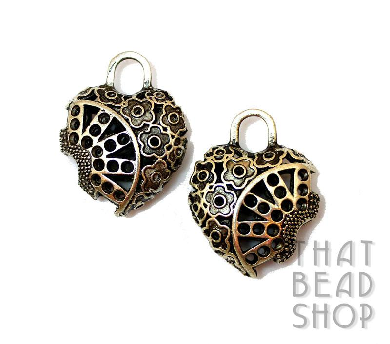 Inventory other pendants sunburst floral open cut heart and gear sunburst floral open cut heart and gear pendant antique silver mozeypictures Gallery
