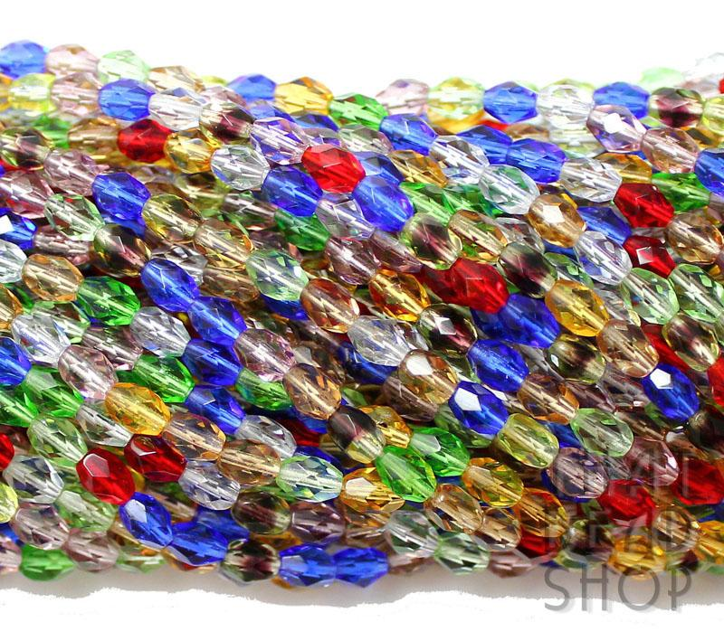 6mm x 4mm Rainbow Garden Fire Polished Faceted Oval