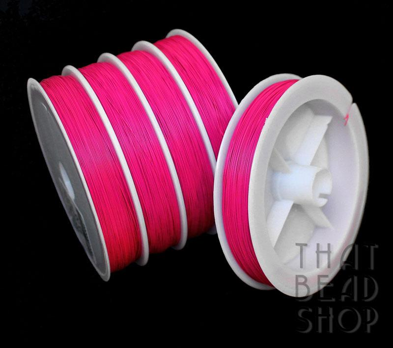 Bright Pink Tiger Tail 0.38mm - 100m